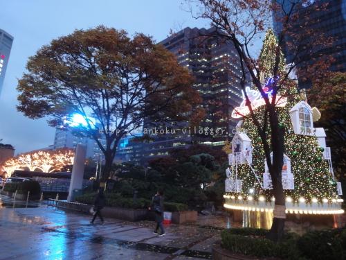 2016年韓国ソウルロッテのクリスマスイルミネーション01