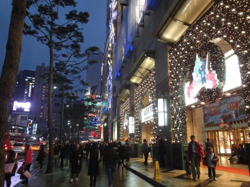 2016年韓国ソウルロッテのクリスマスイルミネーション06