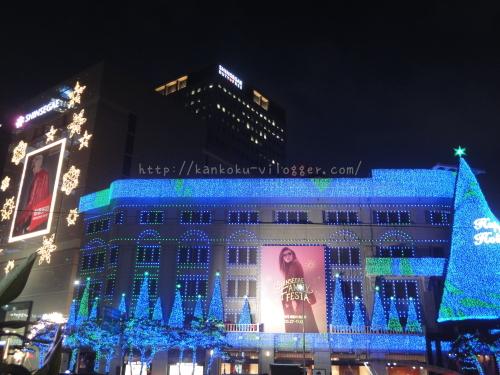 2016年新世界百貨店のクリスマスイルミネーション4