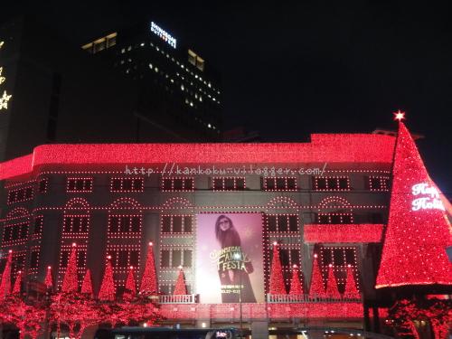 2016年新世界百貨店のクリスマスイルミネーション5